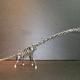 ネジアート 大型ブラキオサウルス骨格 手作りアート作品